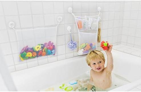 Urtone 2 x Bad Spielzeug Organizer+4 Selbstklebend Haken /& Badeschwamm,Bad Spielzeug Netz Badespielzeug Lagerung Badewanne Spielzeugnetz F/ür Kinder /& Kleinkinder
