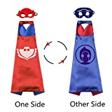 Catboy Owlette Gekko Costumes and Dress Up for Kids - Superhero Double-Sided Capes Masks and Bracelets for Holiday Parties