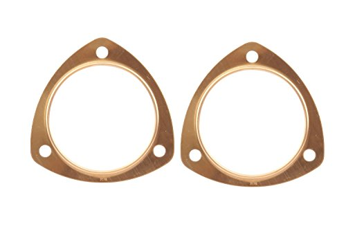 Mr. Gasket 7178C Copper Seal Collector And Header Muffler Gasket; Triangle; 3 Bolt Holes; 3.5 in. Dia; 4 7/16 in. Bolt Circle; 3/8 in. Bolt Hole; 2 pc;