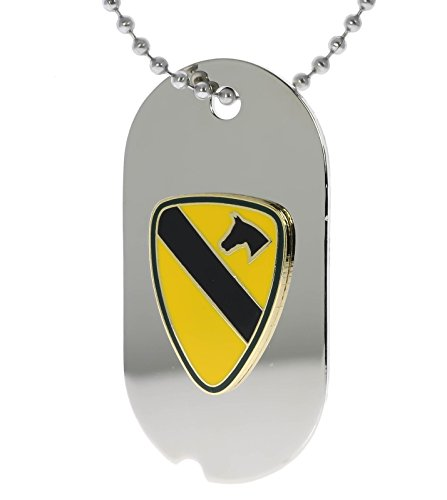 US Army First 1st Cavalry Division Dog Tag Necklace H14653D35