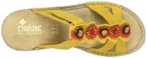 Rieker 65822-68 Damen Clogs & Pantoletten Gelb (mais/multicolor 68)