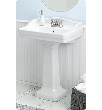 Cheviot Small Essex Pedestal Sink 553W24 8 White