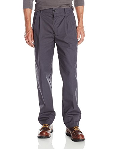 Red Kap Men's Pleated Work Pant, Charcoal, 46x32 - Mens Pleated Trousers