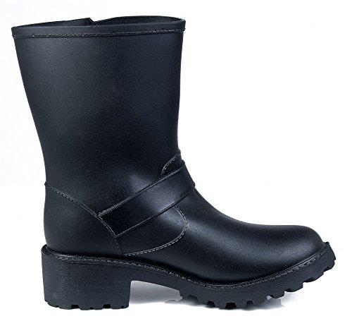 Unie AgeeMi Shoes Bottes Boucle Pluie Femme Couleur Imperm Bottes rrHYF7q