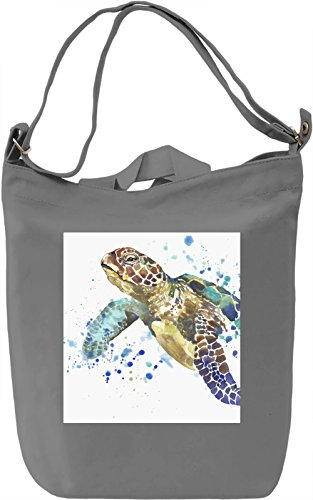 Turtle Borsa Giornaliera Canvas Canvas Day Bag| 100% Premium Cotton Canvas| DTG Printing|