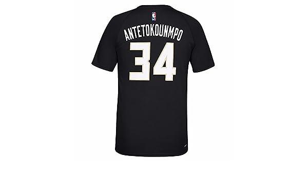 Adidas Giannis Antetokounmpo Milwaukee Bucks NBA Reproductor de Color Negro N & N Jersey Climalite Camiseta de Manga Corta para Hombre, Negro: Amazon.es: ...