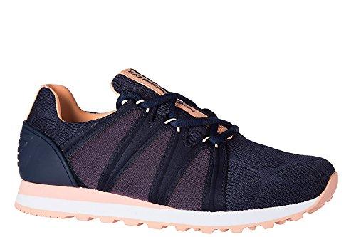 Emporio Armani EA7 scarpe sneakers donna nuove originale new heritage mesh blu
