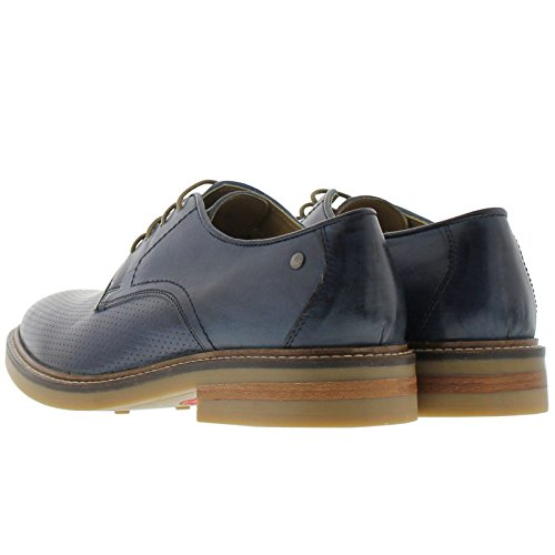 Base London Mens Standford Leather Shoes Navy