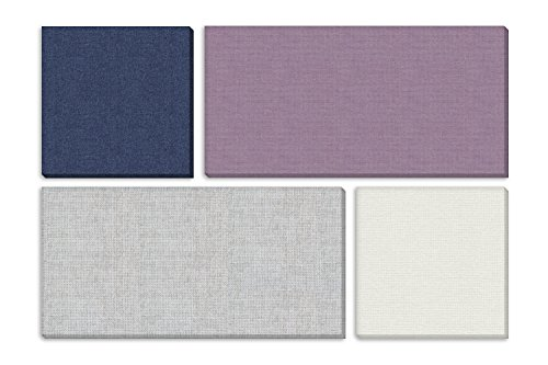 "ADW Acoustic Panels 73"" X 49"" X 1"" Mondrian Kit – Quick Easy DIY Install - Various Color Combos (Panels Acoustic Fabric)"