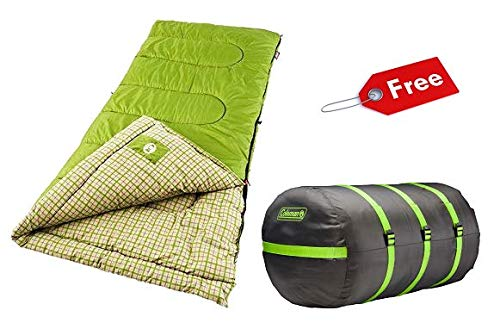 Coleman Sleeping Bag with Freebies (Green) (Coleman Green Valley Cool Weather Sleeping Bag)