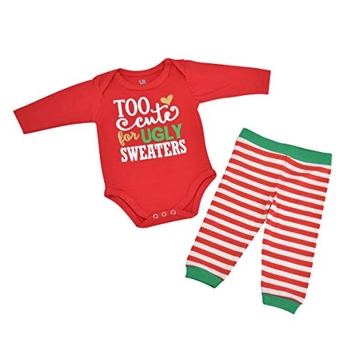 Unique Baby Girls Ugly Sweater Christmas Layette Set (12 Months)