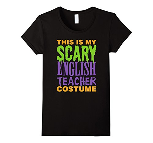 Womens Funny Scary English Teacher Halloween Costume - Best Costume Small (Best Middle School Halloween Costumes)