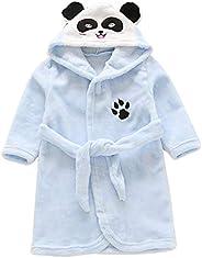 Happy Cherry Boy's Flannel Bathrobe Pajamas Home Wear Infant Bathrobe Boy Sleepwear Girl Nightgown Baby Wi
