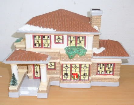 Dept 56 Original Snow Village Prairie House F L Wright by Department 56
