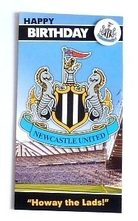 Official Football EPL Gift Newcastle United F.C. Birthday Card & - Store Newcastle Official