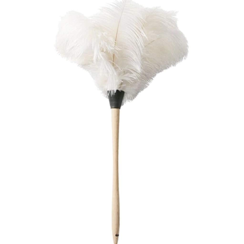 ダチョウの羽の木製のハンドルは、おもちゃとして使用することができます、集塵機/静電気防止車/ホームダストの汚れをクリーニングツール B07GWP8JKY