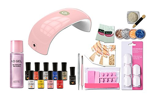 - IO Gel - 1 Step Premium Polish Kit Brings You Instant Beauty with an Excellent Brightness (Full Kit)