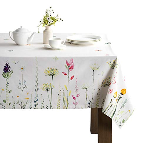 Maison d' Hermine Botanical Fresh 100% Cotton Tablecloth for Kitchen   Dining   Tabletop   Decoration   Parties…