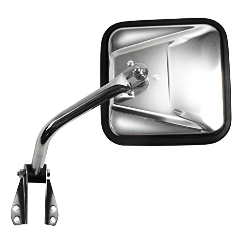 Cj Style Mirror (Fit System 60021C Jeep Passenger Side Replacement OE Style Manual Folding Mirror)