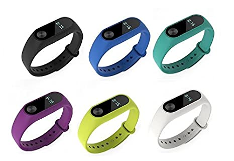 Amazon.com : For Xiaomi Mi Band 2 strap, Feibands Colorful Replacement Band Wristband Bracelet Accessories For Xiaomi Mi Band 2 Smart Watch (No tracker) ...