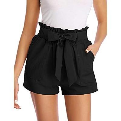 GlorySunshine Women's Bowknot Casual Elastic Waist Summer Shorts with Pockets | Amazon.com