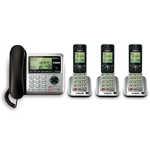 Vtech Digital Answering System -3 Handset Corded/Cordless System Handset with Caller ID/Call Waiting Function