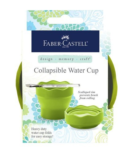 Faber-Castell Design Memory Craft Collapsible Cup for Painting with Watercolors and Gelatos