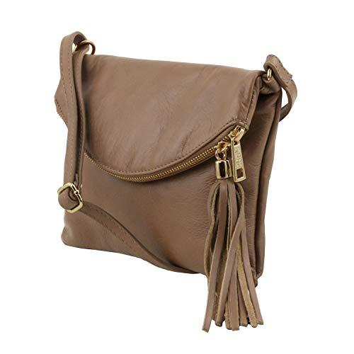 Bolso con Borla Topo Bag Young Violeta Oscuro TL Leather Marrón Bandolera y Tuscany xIRSqwpfn