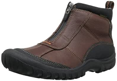 Amazon.com | CLARKS Men's Archeo Zip, Dark Brown Leather 7