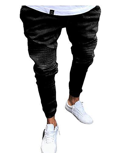 Mezclilla Hop Hip Cómodos Battercake De Negro Largos Cómodo Casual Vintage Stretch Streetwear Jeans Pantalones IwgaEqZ