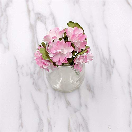 ShineBear 144pcs/ lot A lot Miniature Paper Chrysanthemum Artificial Daisy Flowers Silk Wedding Bouquet of The DIY Scrapbook Fak - (Color: Pink)