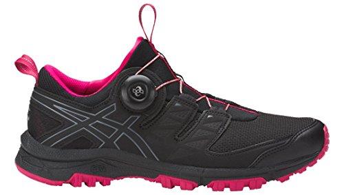 Asics Womens Piste Gel-fujirado Chaussures De Course Noir / Carbone / Cosmo Rose
