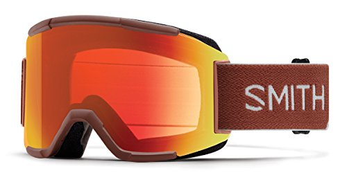 Smith Optics Squad Asian Fit Goggle - Adobe Split Frame/ChromaPop Everyday Red - Asian Goggles Fit Ski