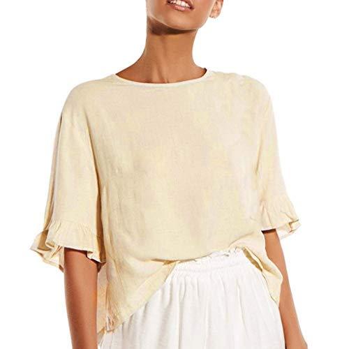 02101b943db8 TWIOIOVE Casual para Mujer Moda Mujer Camisetas Botón De Verano ...