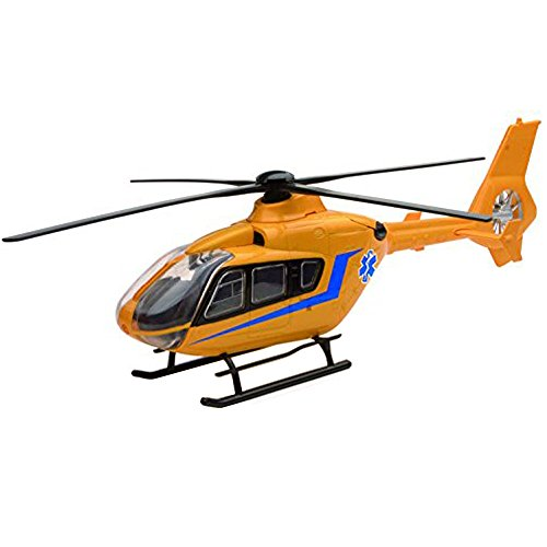 Diecast Airbus - NewRay Helicopter 1:43 Diecast Airbus EC 135 Collection Yellow Color Model