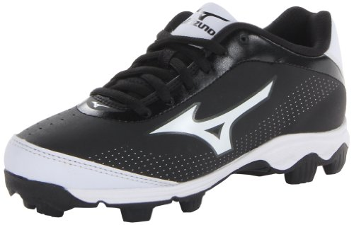 Mizuno Youth Franchise 7 Baseball Cleat (Toddler/Little Kid/Big Kid),Black/White,1 M US Little Kid (Boys Baseball Cleats 7)