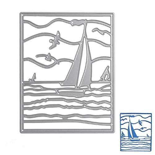 Bottone Sea Sailing Die Cutting Dies Stencil Scrapbooking Album Card Embossing Craft DIY