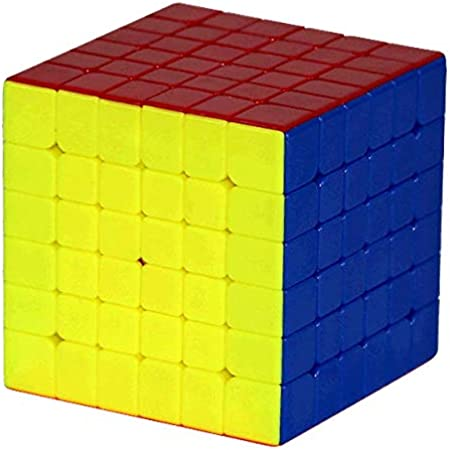 Lakshya India Sticker Less 6X6x6 Rubiks Cube with High Stability Suitable for Kids As Well As Adults