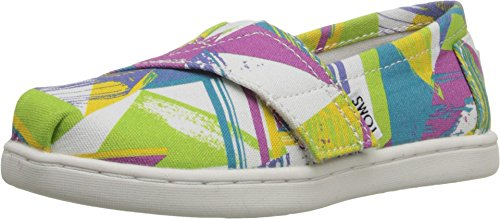 - TOMS Kids Unisex Seasonal Classics (Infant/Toddler/Little Kid) Bright Multi Canvas Triangles Loafer 4 Toddler M