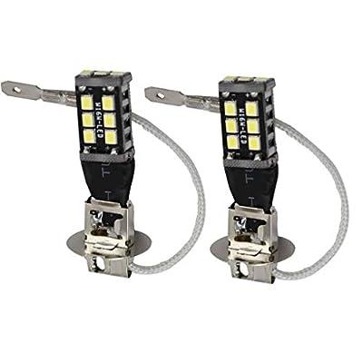 2 Pack H3 15W High Power White 6000K LED 2835 Fog Driving DRL Light Bulb 12V: Automotive