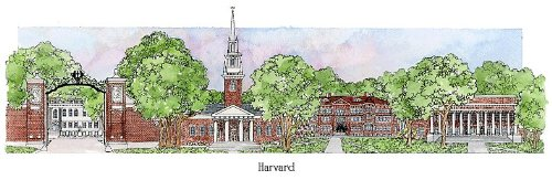 Harvard University - Collegiate Sculptured Ornament by Sculptured Watercolor Ornaments