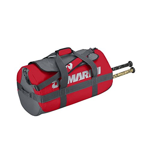 Red/Silver DeMarini Stadium Baseball/Softball Duffle Bat Bag