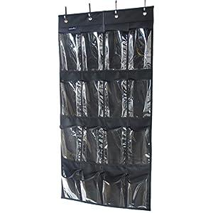 Misslo 16 Clear Pockets Over the Door Shoe Organizer Hanging Closet Storage