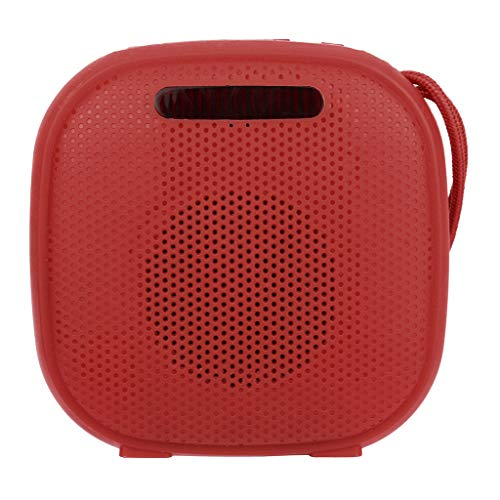 (Mbtaua-Sound HiFi Portable Wireless Bluetooth, Stereo FM Sound with SD Card Slot FM USB Subwoofer Speaker Lighting Lamp Red)