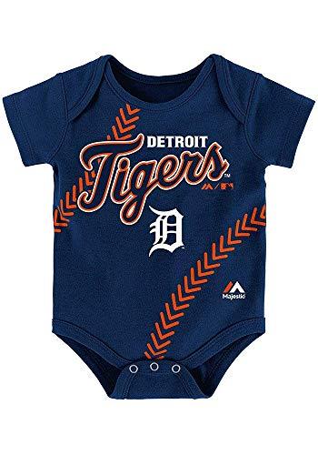 - Detroit Tigers Infant Fan-ATIC Team-Color Baseball Creeper 18 Months