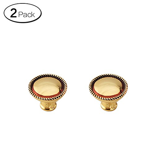 Zhi Jin 2Pcs Modern Gourd Book Drawer Knobs Gold Door Cabinets Handle Furniture Series Single Hole