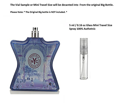 Bond No.9 Washington Square 0.16 oz / 5 ml Unisex Eau de Parfum Spray Glass Mini travel Size