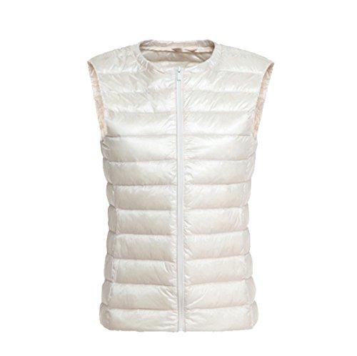 (Respeedime Women New Autumn and Winter Vest Coat Lightweight Girls Down Jacket)