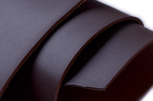 W WENTO 1.8mm Thick Solid Genuine Leather Finished,Cow Split Leather,Cowhide Leather,Split Hide Leather (2 Square Foot (12 x 24''), Dark Brown)