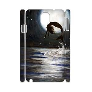 mermaid Design Cheap Custom 3D Hard Case Cover for Samsung Galaxy Note 3 N9000, mermaid Galaxy Note 3 N9000 3D Case